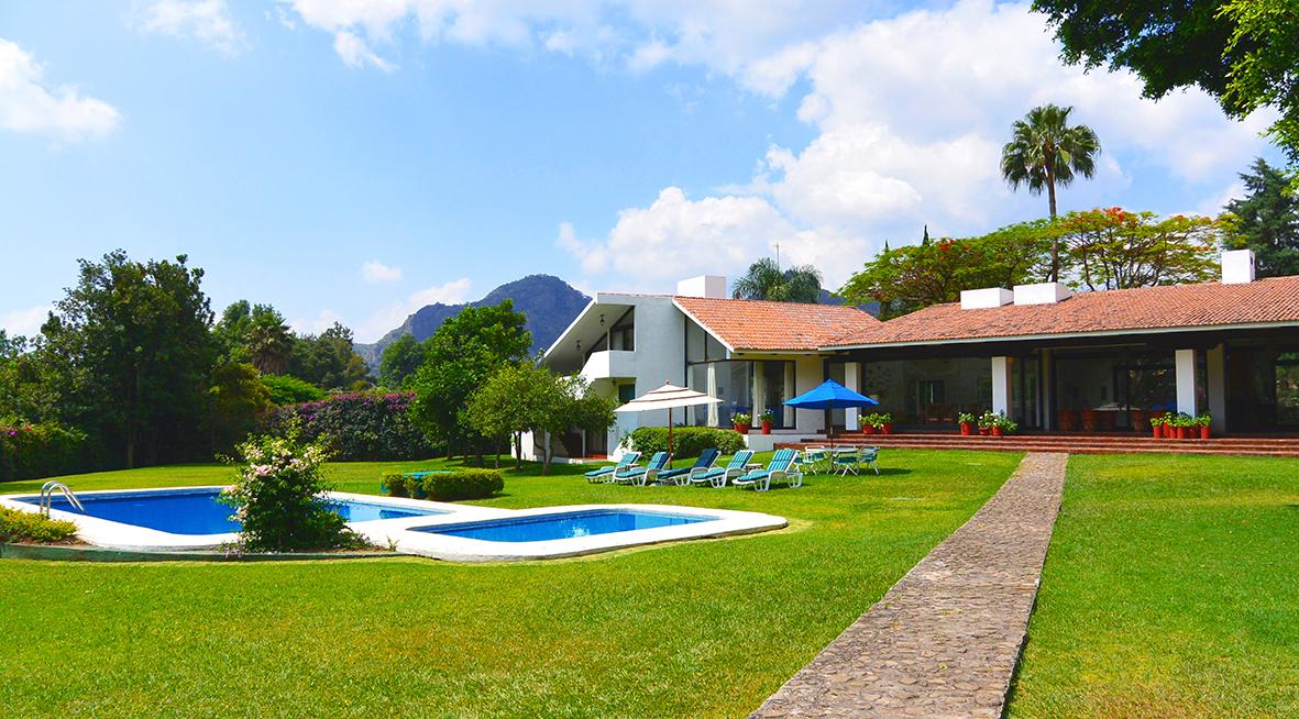 Casa en renta vacacional descanso vacaciones alquiler fin for Jardines grandes